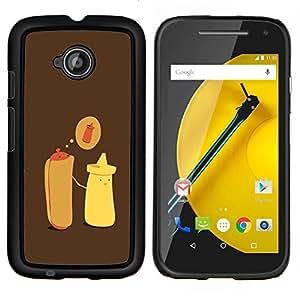 Eason Shop / Premium SLIM PC / Aliminium Casa Carcasa Funda Case Bandera Cover - Hot Dog Mostaza Cartoon minimalista - For Motorola Moto E ( 2nd Generation )