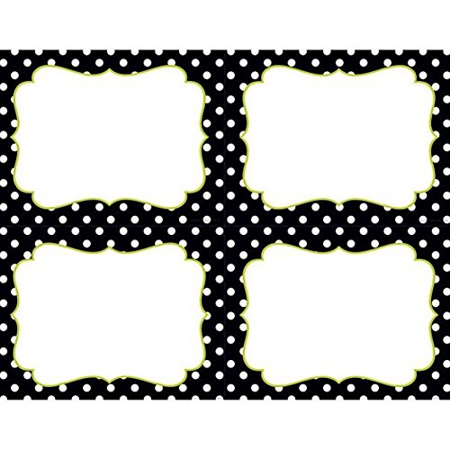 (Black and White Dots 4-Up Postcards - Pack of)