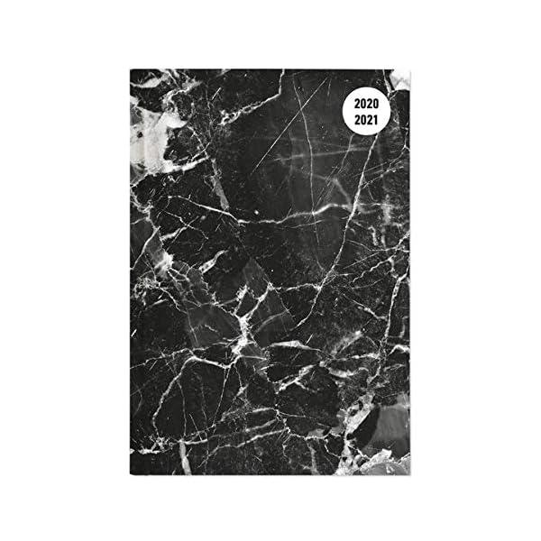 Alpha Edition Diario Agenda Scuola Collegetimer 2020/2021, Giornaliera, Formato 15x21 cm, Marmo Nero, 352 pagine 1 spesavip
