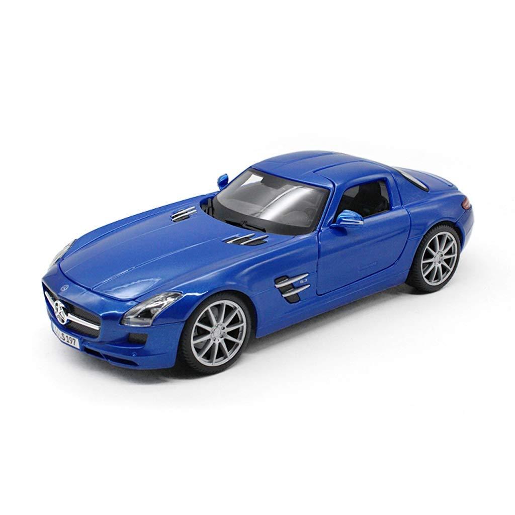 Auto Modello Mercedes-Benz SLS AMG GT Gullwing in Lega Modello di Auto Alta Simulazione 1 18 in Metallo Auto Sportiva in Lega Modello di Auto ( Colore   Blu )