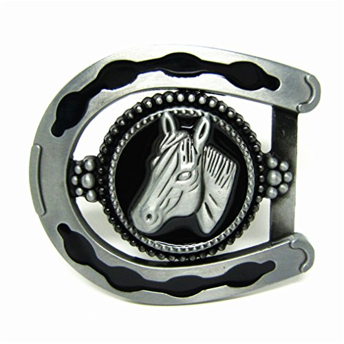 Head Horseshoe Horse - MASOP 3D Cool Horseshoe Horse Head Belts Buckles Mens Metal Animal Vintage