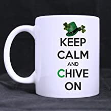 Personalized Keep Calm And Chive On Qutoes Custom Photo Mugs