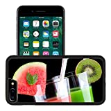 organ juice - Liili Apple iPhone 7 plus iPhone 8 plus Aluminum Backplate Bumper Snap iphone7plus/8plus Case Two glasses of organic juice made from fresh fruits and surrounded by fresh Photo 9961391