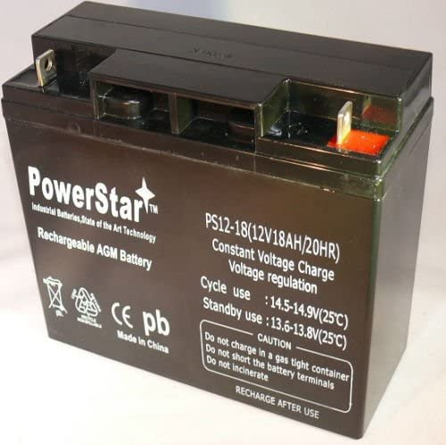 POWERSTAR 12V 18AH UPS Battery Replaces Werker WKA12-18NB 2 Year Warranty