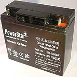 PowerStar 12V 18 Battery for Lobster Elite 2 Tennis Ball Machine.