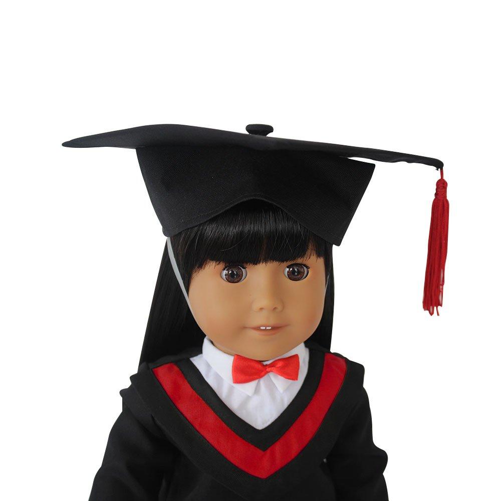 Amazon.com: Old-Fashion Doll Graduation Gown Cap Tassel For 18 ...