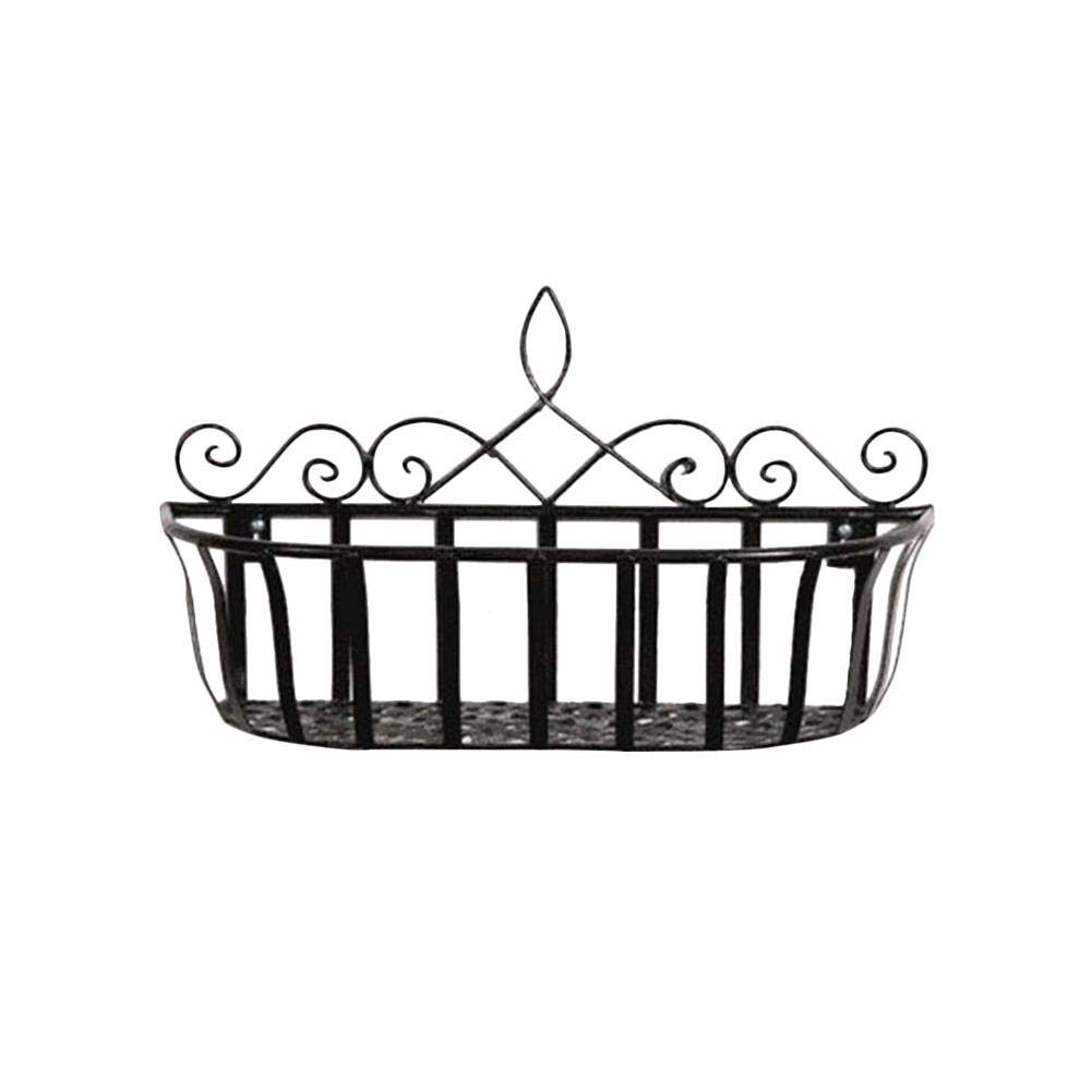 Depruies Flower Basket Storage Rack for Home Living Room Balcony Wall Mounted Holder Hanging Organizer