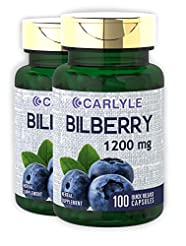 Bilberry Fruit Extract 1200mg | 200 Caps...