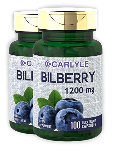 Bilberry Fruit Extract 1200 mg 200 Caps by Carlyle ()