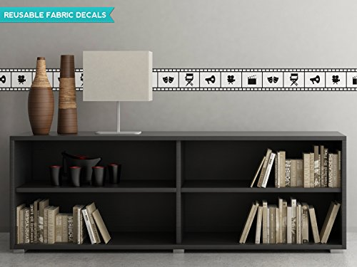 (Motion Picture Film Wall Border Fabric Wall Decal - Set Of Two 25