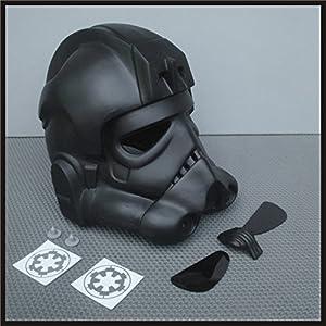 Amazon.com : TIE Fighter Pilot Helmet Prop Kit for Star ... Tie Fighter Pilot Helmet