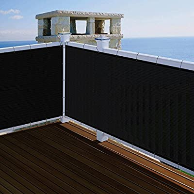 SoLGear 3' x 1' Privacy Fence Screen Mesh with Brass Grommets 140GSM Heavy Duty Pefect for Outdoor Back Yard Patio and Deck Black-Customized Sizes Avaliable