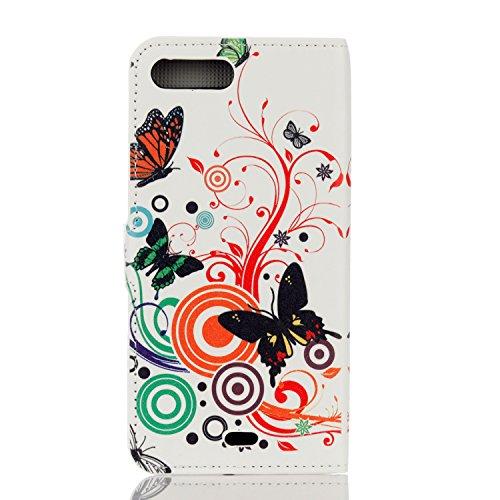 Voguecase® Pour Apple iPhone 7 4,7 Coque, Étui en cuir synthétique chic avec fonction support pratique pour iPhone 7 4,7 (automne Fleur)de Gratuit stylet l'écran aléatoire universelle