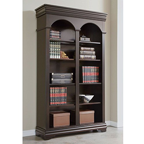- Beaumont Arched Five Shelf Double Bookcase - 78