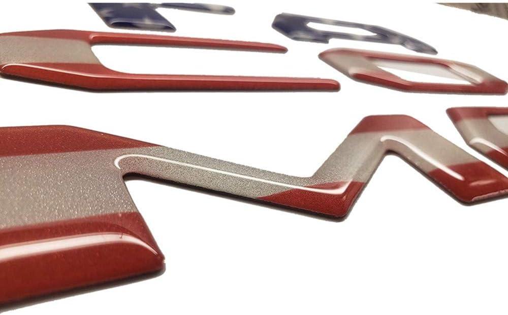 Reflective Black Flag Reflective Emblem Decals Fits for 2016-2020 Tacoma Models Domed 3D Raised Tailgate Insert Letters