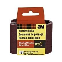 3M 9250NA-2 Heavy Duty Power Sanding Belts, 2.5-Inch by 16-Inch, Fine Grit, 2-pack