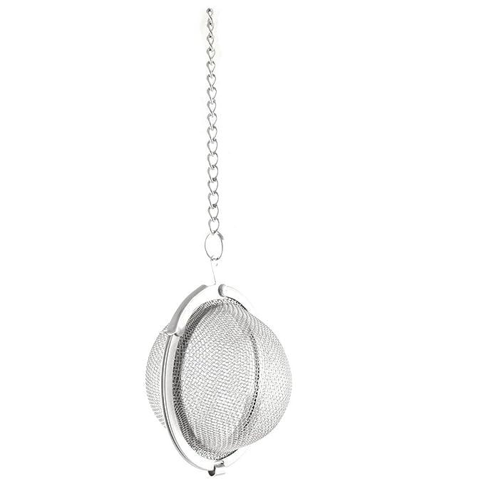 Amazon.com: eDealMax acero inoxidable reutilizable Inmovilización de la cadena de cocina infusor de té bola de malla del tamiz de filtro 5.3cm Dia: Kitchen ...