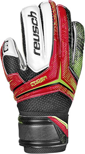 Reusch Soccer Receptor RG Finger Support Junior Goalkeeper Glove, 6, Pair