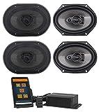 Memphis Hidden Hide Away Classic Car Stereo Receiver+(4) 6X8 3-Way Speakers