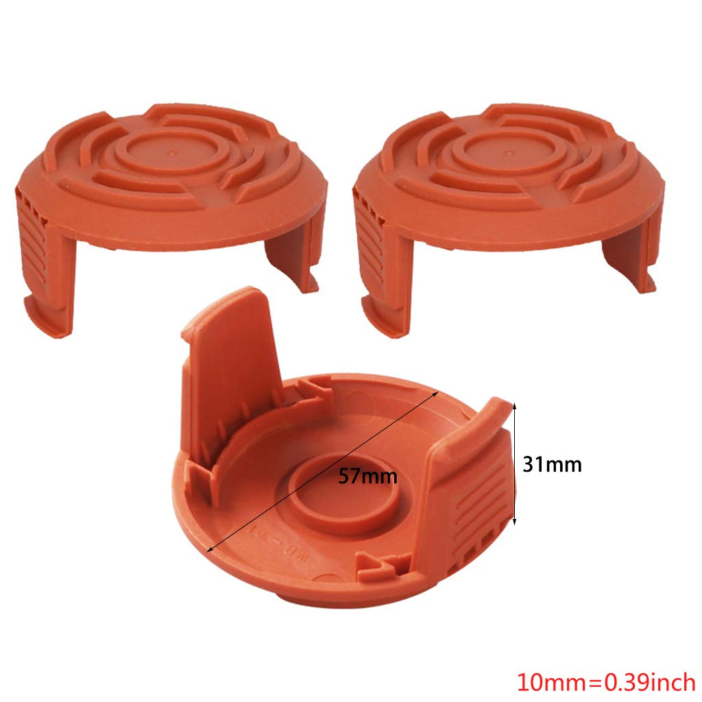 Manyo - Juego de 3 cubiertas para bobina de hilo de corte ...