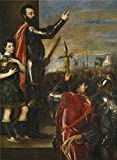 High Quality Polyster Canvas ,the High Definition Art Decorative Prints On Canvas Of Oil Painting 'Titian [Vecellio Di Gregorio Tiziano] The Marquis Of Vasto Addressing His Troops 1540 41 ', 12 X 16 Inch / 30 X 42 Cm Is Best For Bathroom Decoration And Home Artwork And Gifts