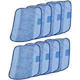 I-clean for iRobot Braava Jet Washable Mopping Pads [8 PACKS] Replacement Microfiber Mopping Cloths For Braava 380t 320 Mint 4200 5200 Robotic