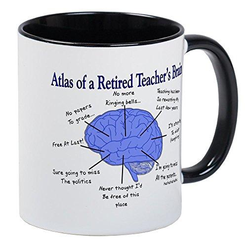 CafePress - Atlas Of A Retired Teachers Brain Mugs - Unique Coffee Mug, Coffee (Atlas Mug)