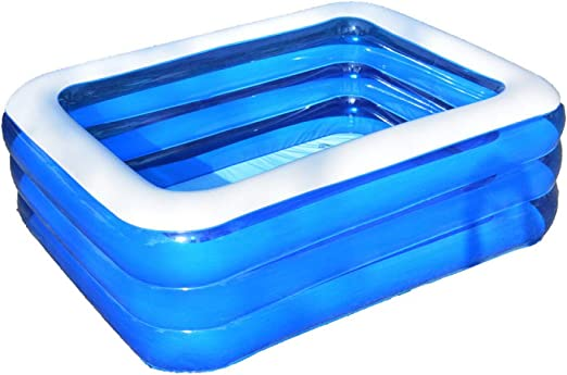 JINMM Piscina Rectangular Family Pool,Piscina Mediana-Swimming ...
