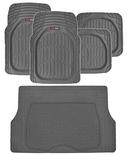 Motor Trend FlexTough Deep Dish Heavy Duty Rubber Floor Mats