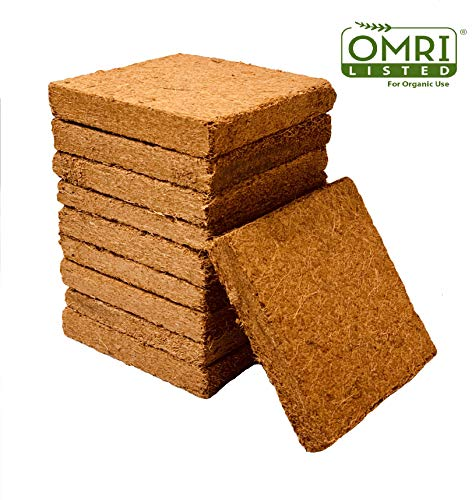 - Coco Bliss Premium Coco Coir Brick 250g, OMRI Listed for Organic Use (10 Bricks)