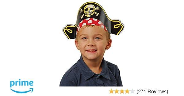 Amazon.com  US Toy Pirate Captain Cardboard Party Hats Costume (1 Dozen)   Toys   Games aede7d54551c