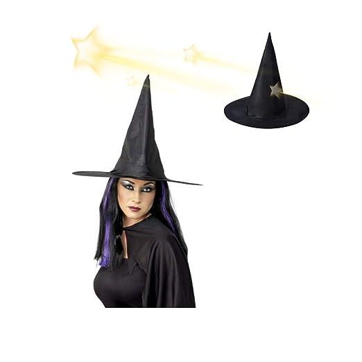 ANGGO - Sombrero de Bruja Negro para Disfraz de Halloween: Amazon ...
