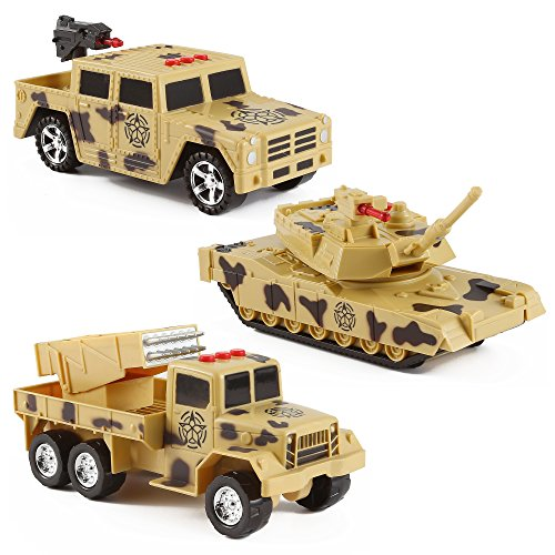 Military Vehicles PlaySet Lights Anti Aircraft