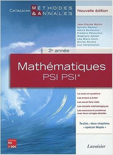 En ligne téléchargement Mathématiques PSI PSI* 2e année : Licences scientifiques pdf