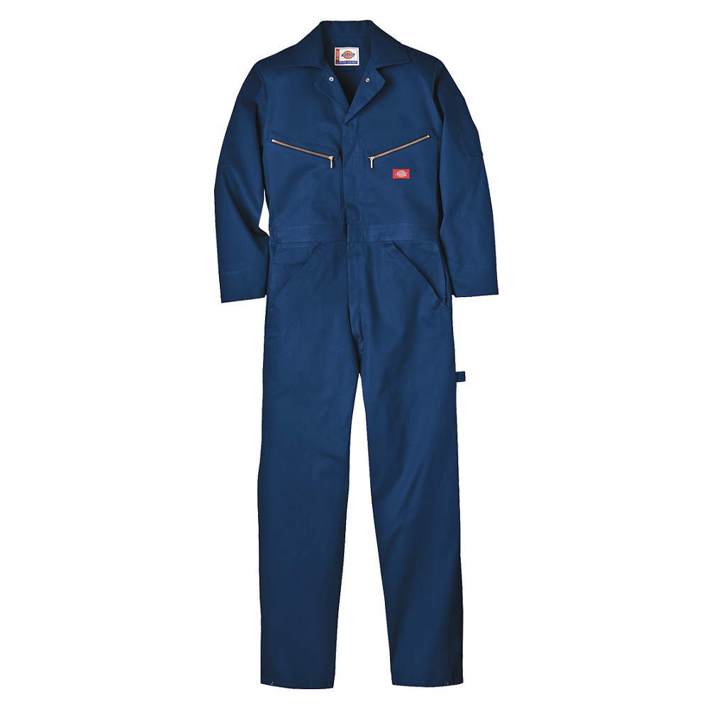 L Cotton Long Sleeve Coveralls Navy