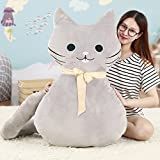 Vercart Cute Cuddly Creative Hugging Pillow Stuffed Plush Animals Soft Toy Pillow Gray 39 Inches