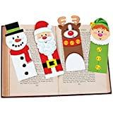 48 ~ Holiday Character Bookmarks ~ Stocking Stuffer ~ New