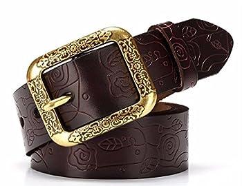 Womens Adjustable Leather Belts Fashion Skinny Waist Strap 125CM 125CM