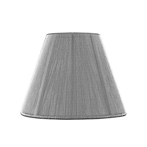 Silver Candelabra Empire (Clip-On Empire Silver Lamp Shade)