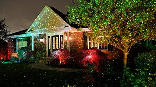 Christmas lights that project on your house