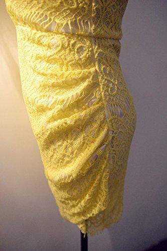 LOBZON Damen Cocktail Kleid gelb gelb 2gQqW7g