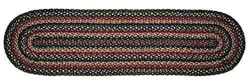 IHF Home Decor Tartan Jute Braided Oval Runner Rug for Kitchen, Dinner Table, Office, Living Room, Farmhouse, Garden | Accent Super Area Rugs | 100% Natural Fiber Handmade Carpet - 13