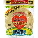 Joseph's Low Carb Tortilla: Flax, Oat Bran and Whole Wheat Flour Tortillas, 8 Inch, 6 Tortillas