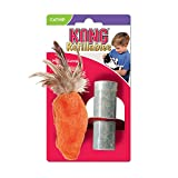 : KONG Feather Top Carrot Catnip Toy, Cat Toy, Orange