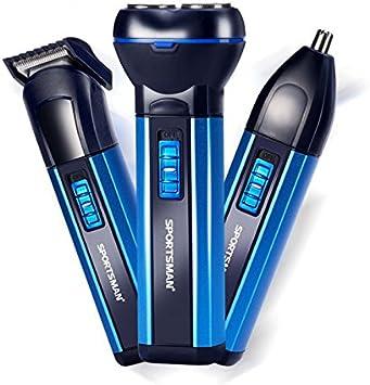 3 en 1 afeitadora recargable Hair Timmer Nose Clipper herramienta ...