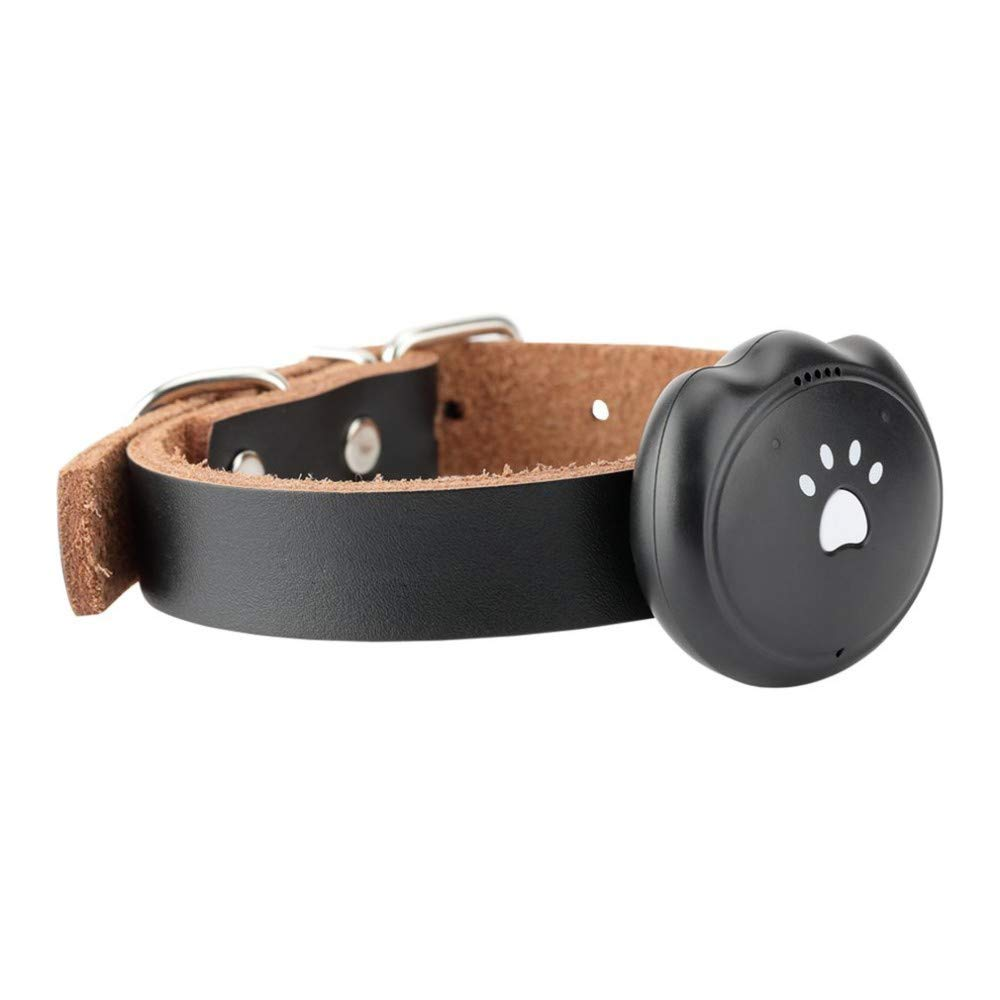 Black QNMM GPS Mini Tracker Pet Waterproof Alarm Real-time Tracking Voice monitor Security Fence Compatible Smart Anti-Lost,Black