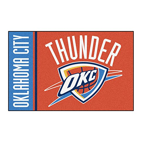 FANMATS 17923 NBA Oklahoma City Thunder Uniform Inspired Starter Rug