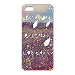 iPhone 5 5s Cell Phone Case White Enjoy Every Moment U4G3XO
