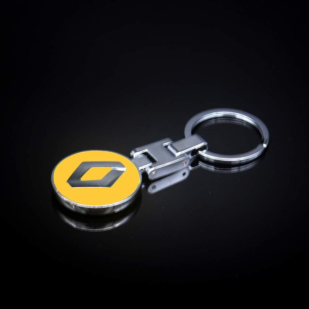 VILLSION 3D Voiture Logo Porte-cl/é Double Face Porte-cl/és en m/étal
