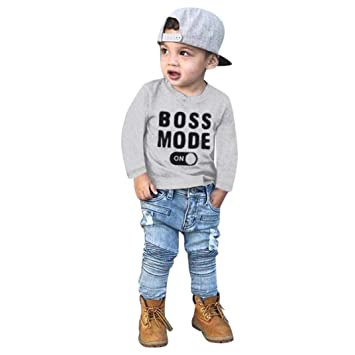 Clode/® for 2-7 Years Old Baby Boys Toddler Kid Baby Boys Cartoon Printing T-Shirt+Short Pants Clothes Outfits Set Gray